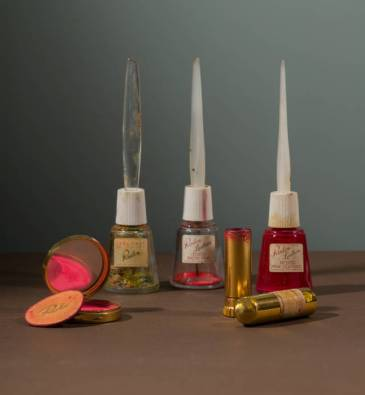 Selection of cosmetics owned by Frida Kahlo. Before 1954. Photograph Javier Hinojosa. © Diego Rivera and Frida Kahlo Archives, Banco de México, Fiduciary of the Trust of the Diego Rivera and Frida Kahlo Museums